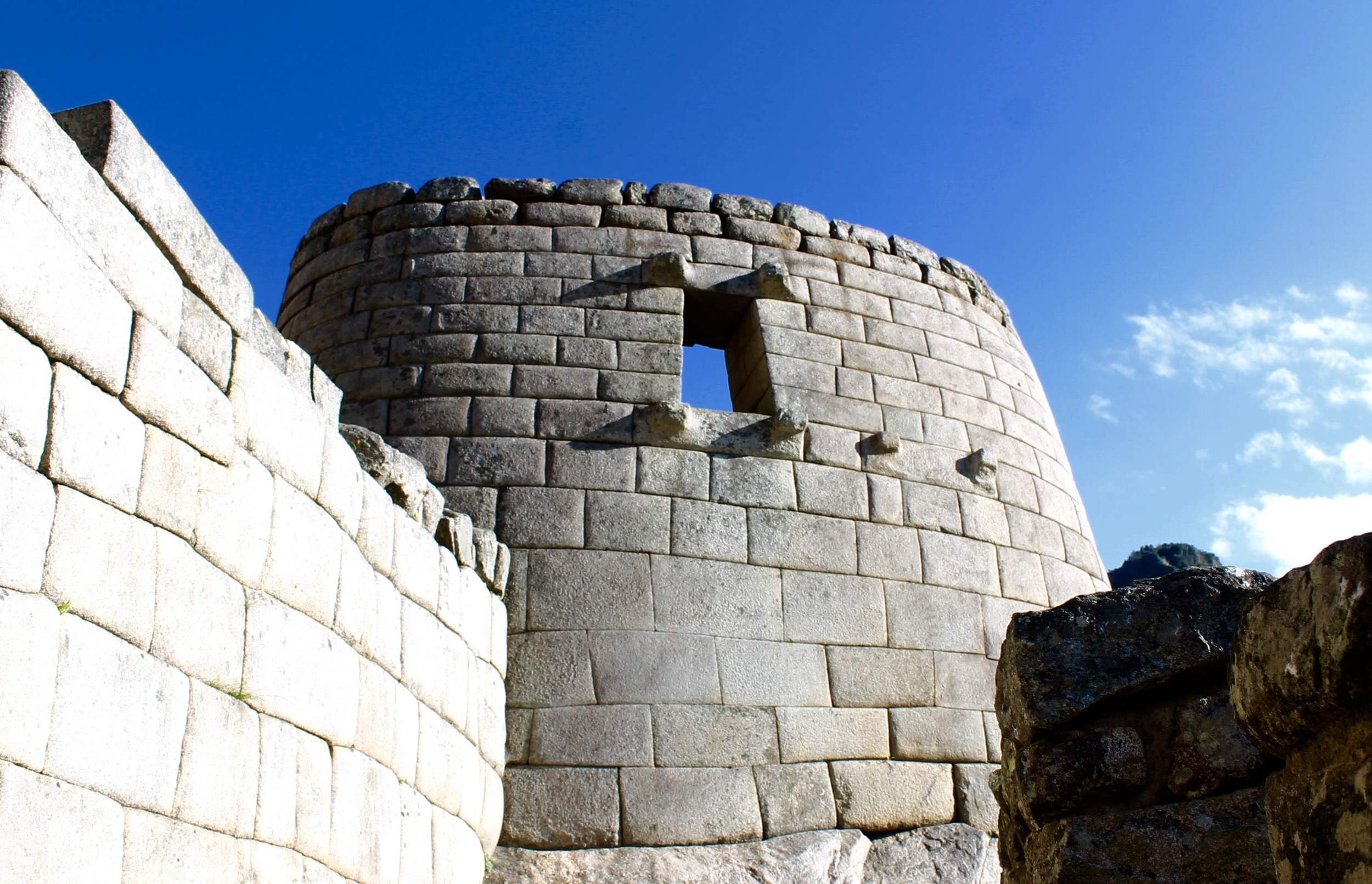 The Sun Temple. Inti, the Inca Sun god was the main god that the Inca's worshipped and who they believed their Inca Kings descended from.