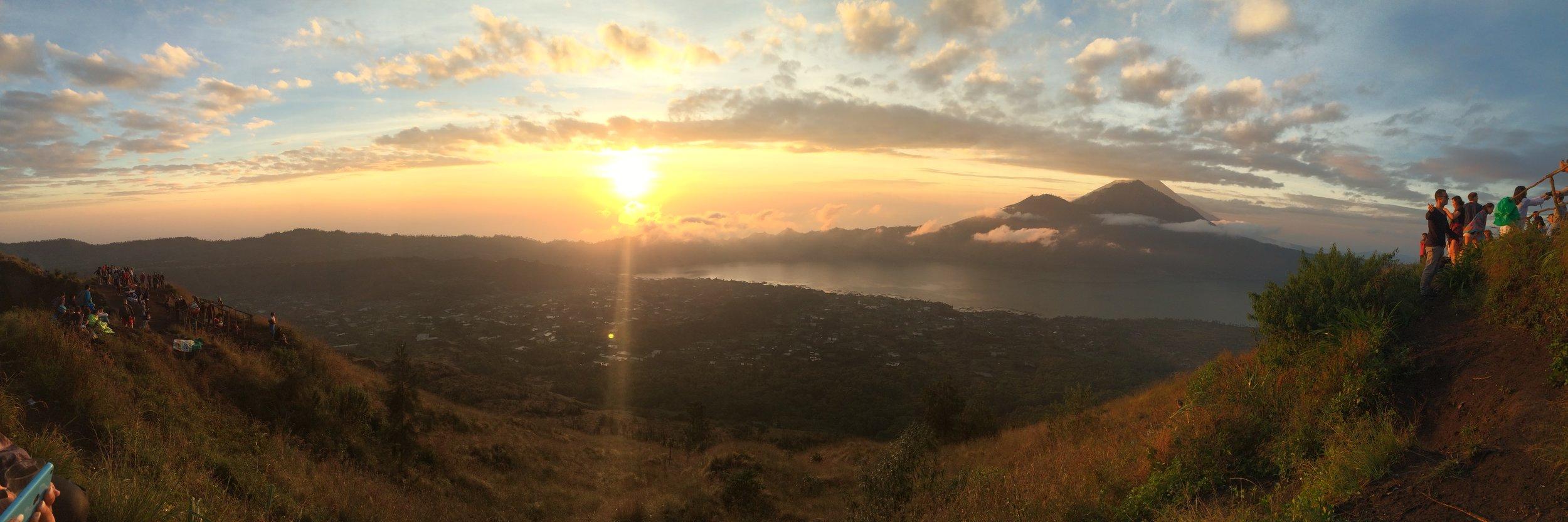 Sunrise from Mt. Batur volcano in Bali, Indonesia