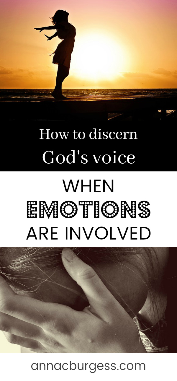 How can we discern God's voice from our own emotions? Is it God or is it me? Click the link to read more #discernment #decisionmaking