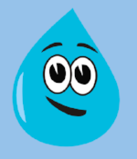 "Water droplets are never never never shaped like ""Mr. Drippy"""