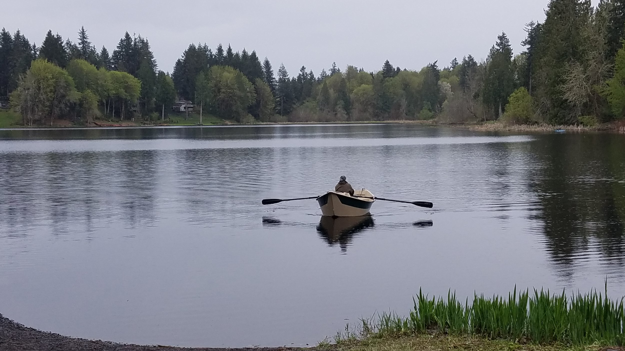 Such a lovely old-fashioned-looking boat that turned Munn Lake into an idyllic scene on Friday afternoon.