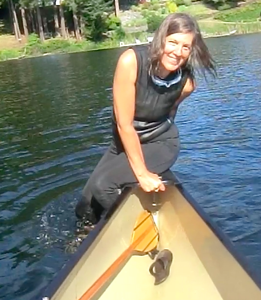 It's way more awkward that you might think. But it can be done for a canoe-in-only wild swim!