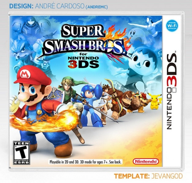Mock-up box art for the 3DS version http://vgboxart.com/boxes/3DS/53505-super-smash-bros-for-nintendo-3ds.jpg