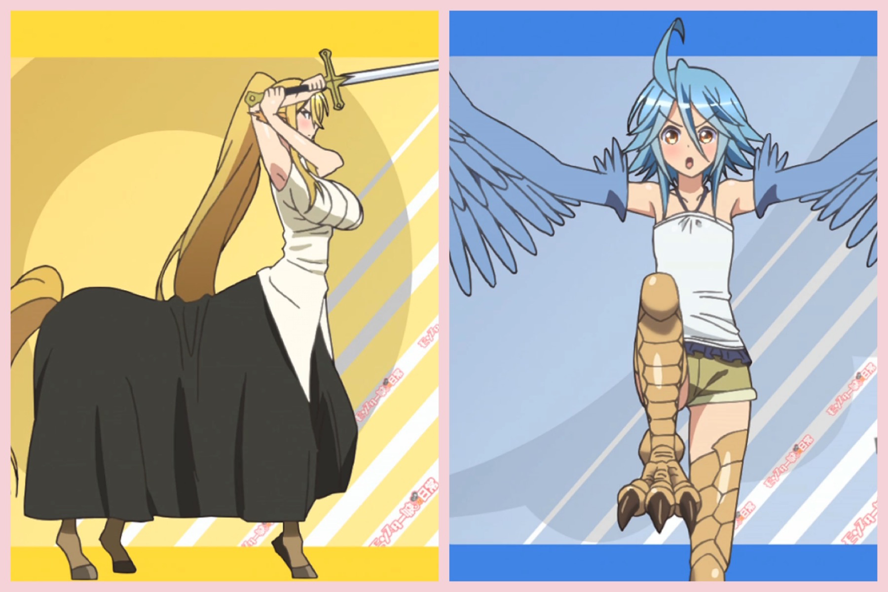 Cerea the Centaur and Papi the Harpy