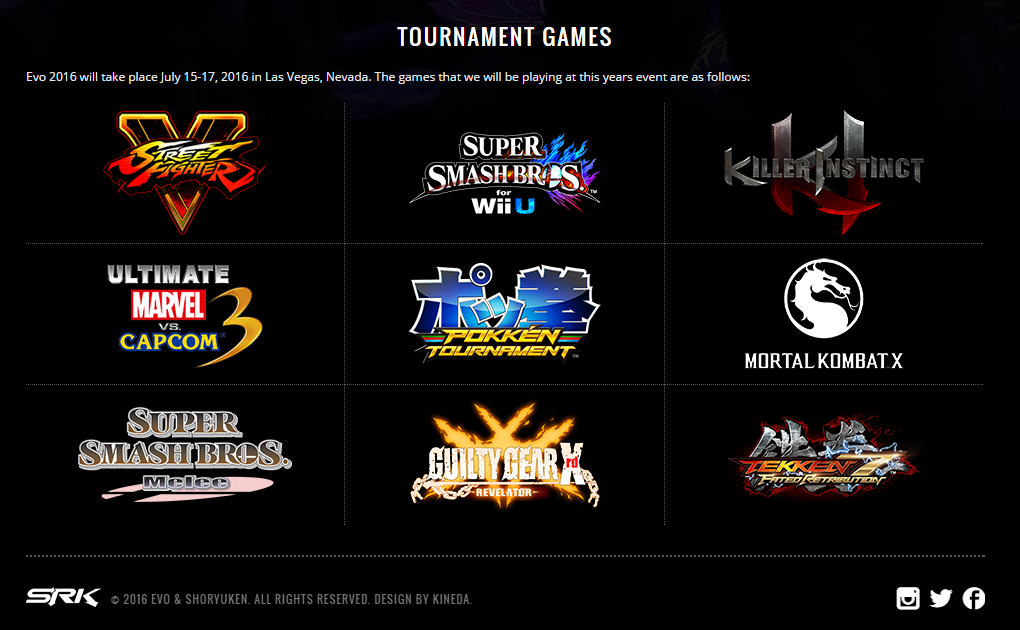Check out the official site at evo.shoryuken.com