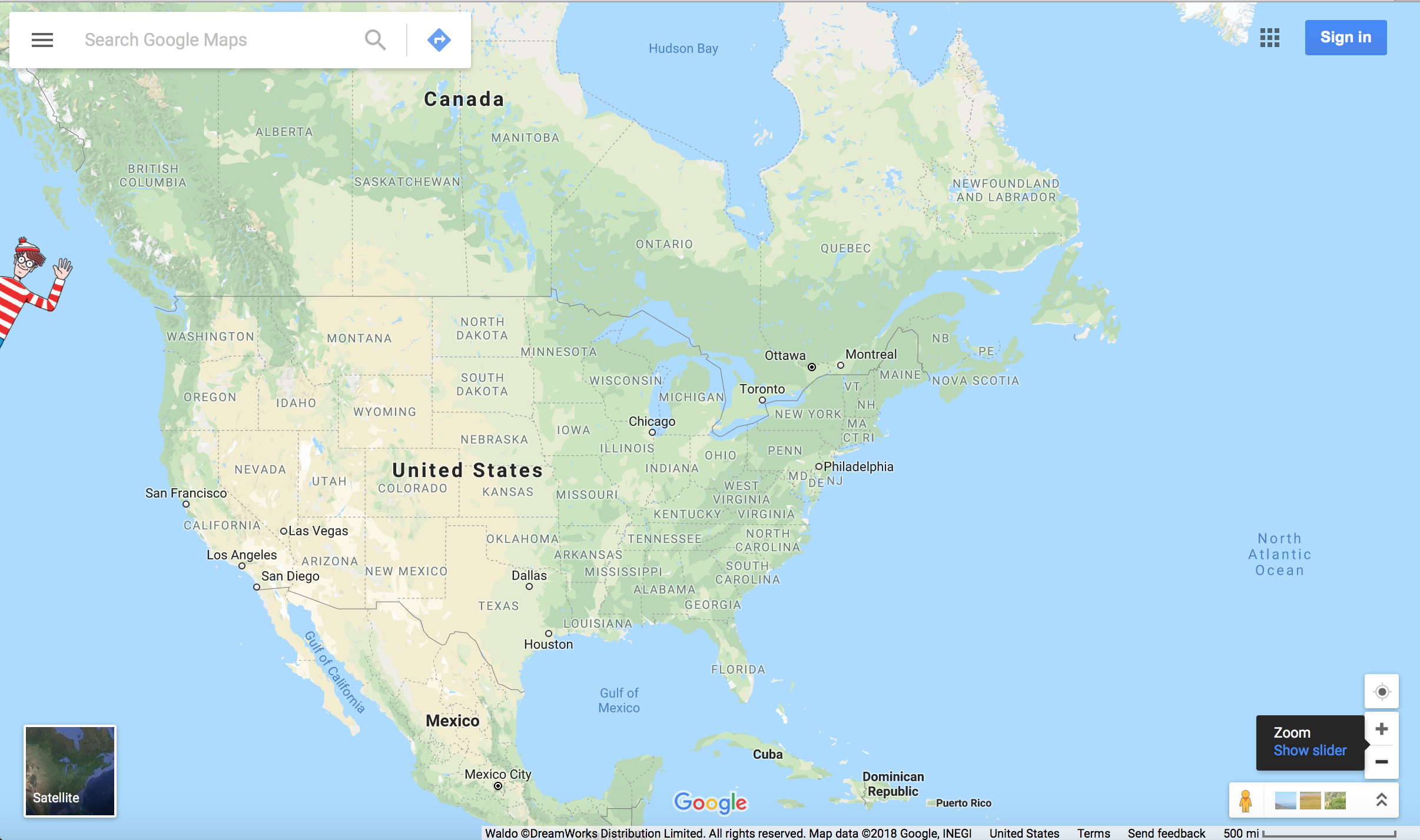 Where's Waldo  on Google Maps