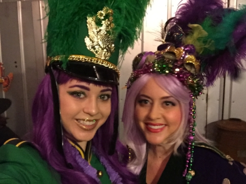 "Amiel and Naomi bring blessings to an ""initiation ceremony"" for Mardi Gras newbies!"