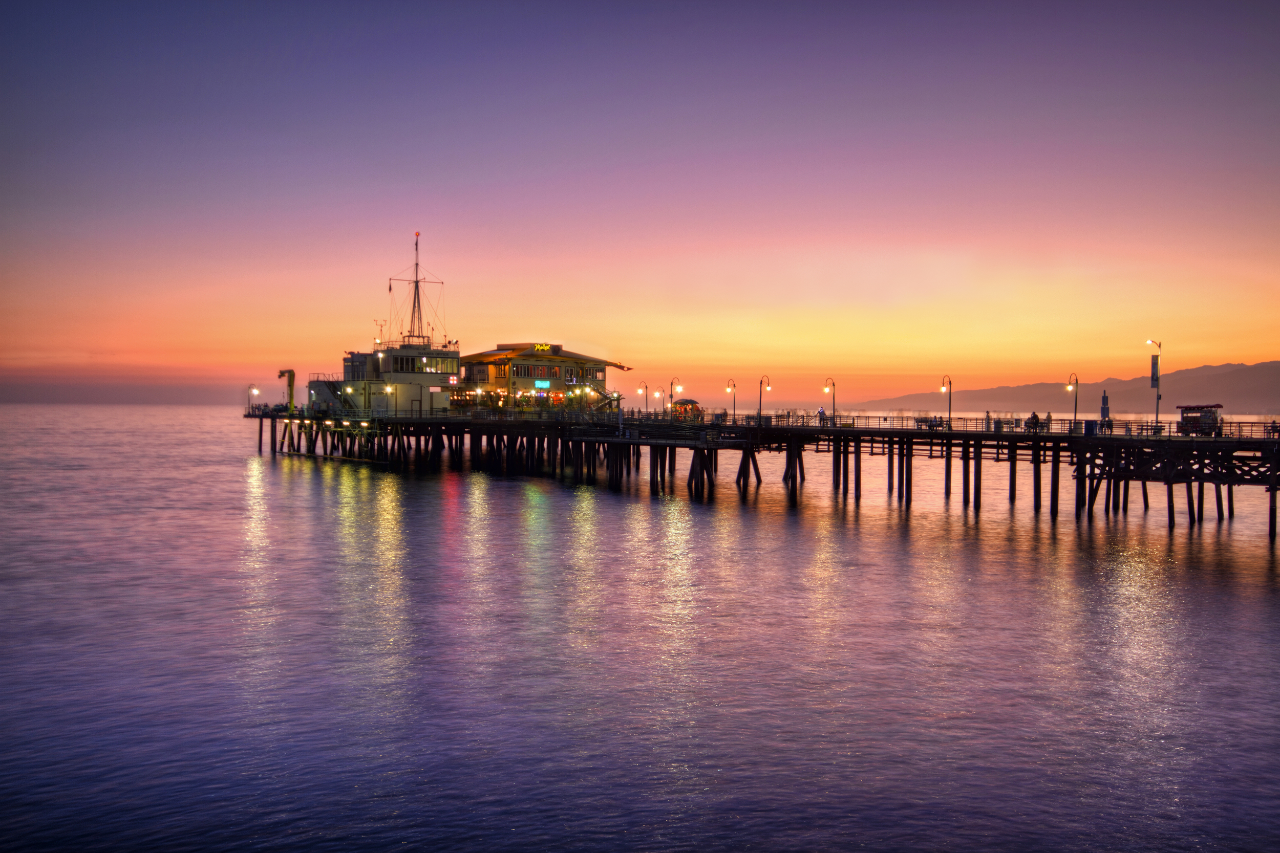 Pier at Sunset   Available in 16x20