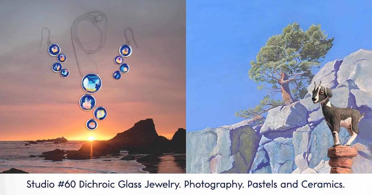 Susanna Kaplan Jewelry - Francesca Scalpi Photography - Bert Kaplan Pastels - Laura Ames Ceramics