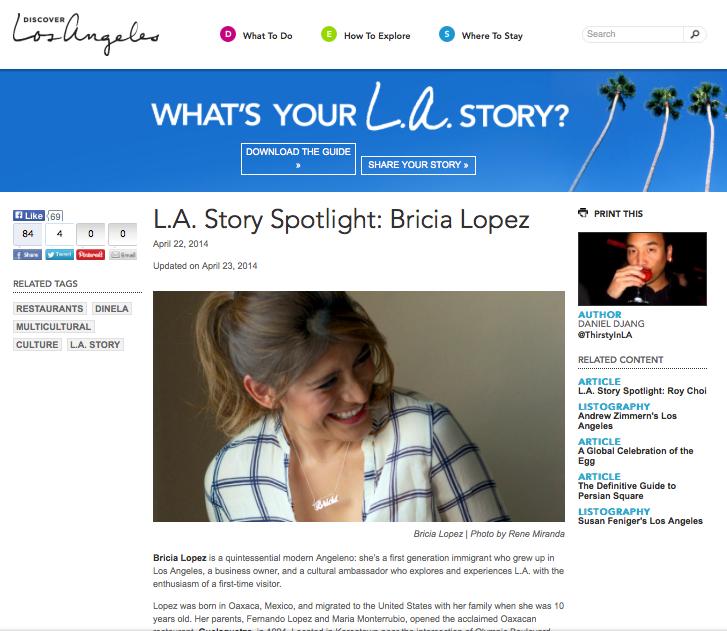 L.A Story Spotlight for DiscoverLosAngeles.com
