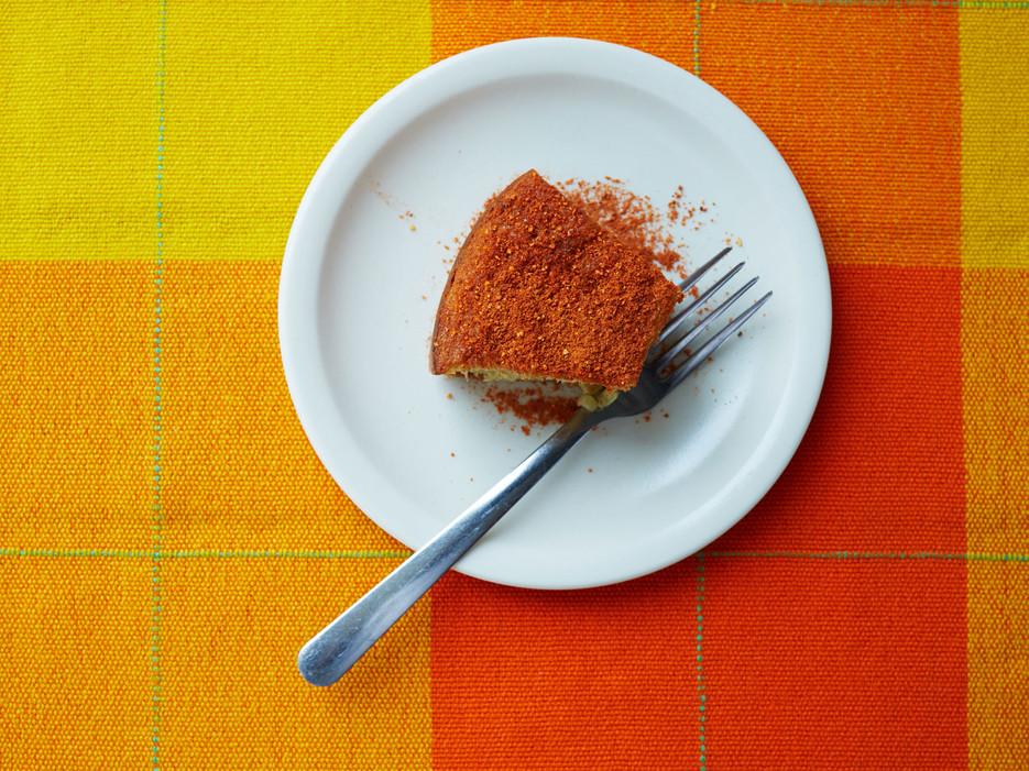 At Itanoní Tortillería y Antojería,  pan de elote,  a traditional sweetcorn dessert, is part cornbread and part flan.