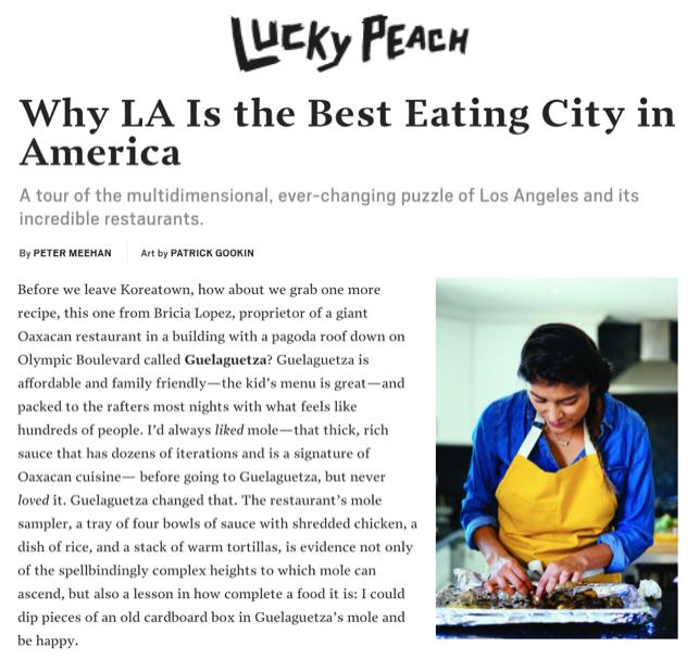 Lucky Peach Magazine Interviews Bricia at Home