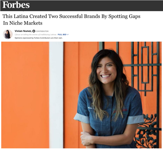 Forbes interview with Bricia Lopez