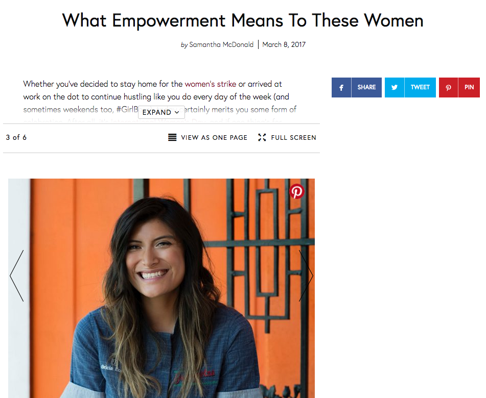 The Zoe Report Interviews Bricia Lopez for International Women's Day