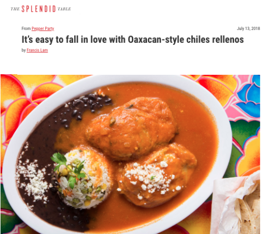 Bricia discusses Oaxacan-style chiles rellenos