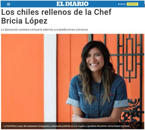 Bricia's interview with El Diario