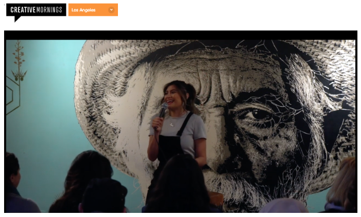 Bricia Shares Her Story With Creative Mornings