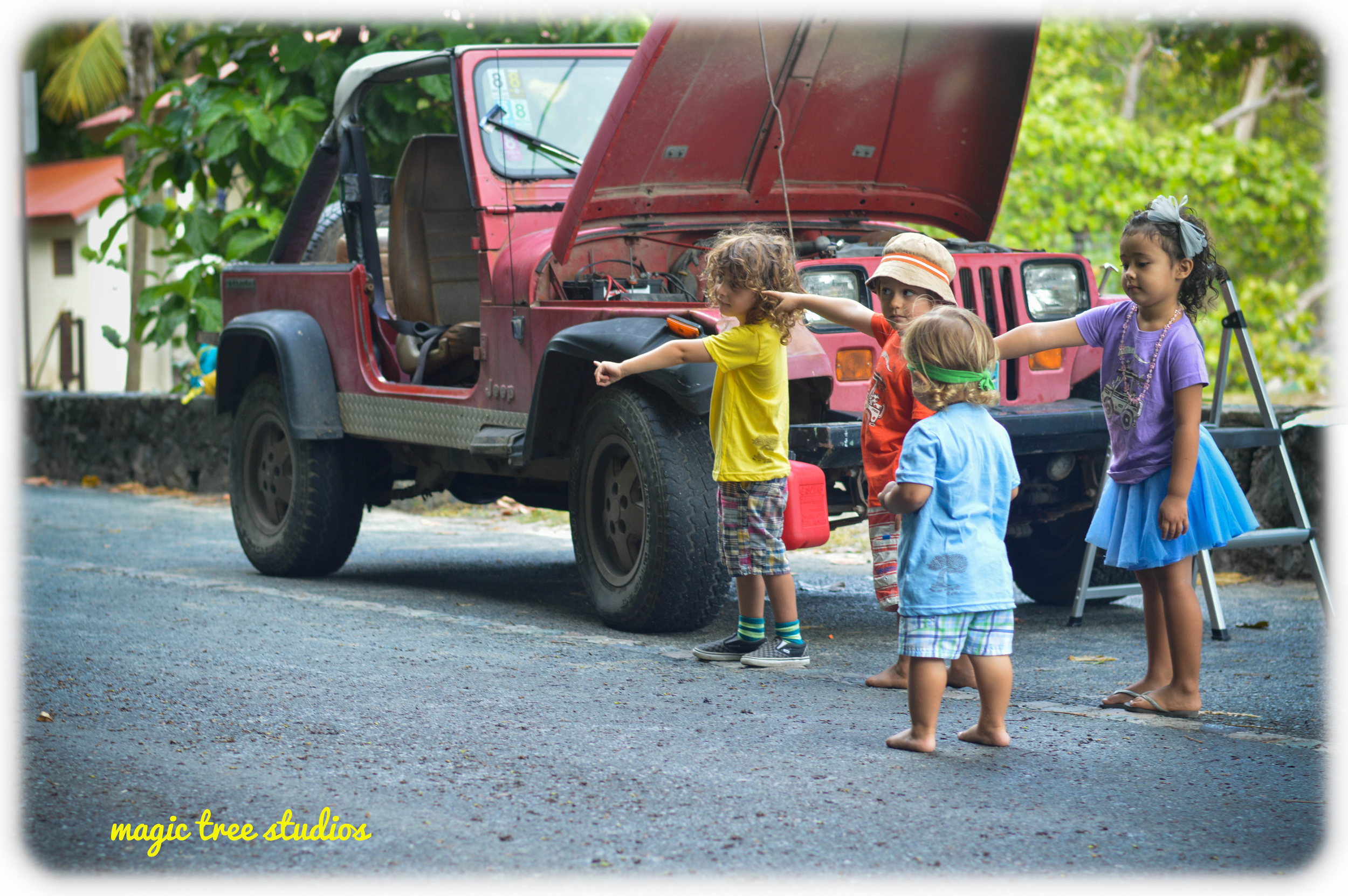 the chances of getting a ride for 5 little people on st. john is significantly larger than 5 grown ups.