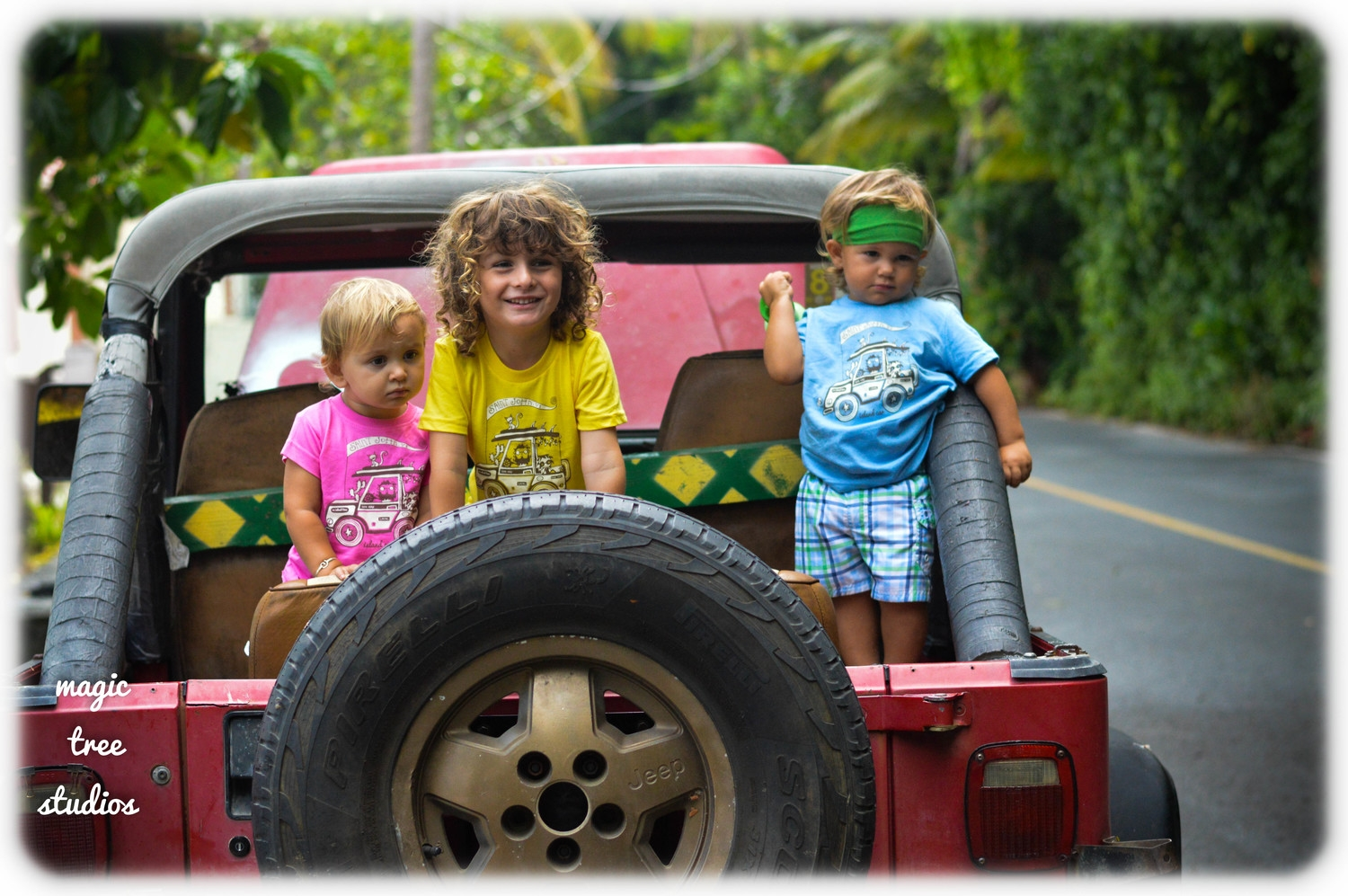 one day, a few friends decided to take daddy's island jeep out for a joy ride