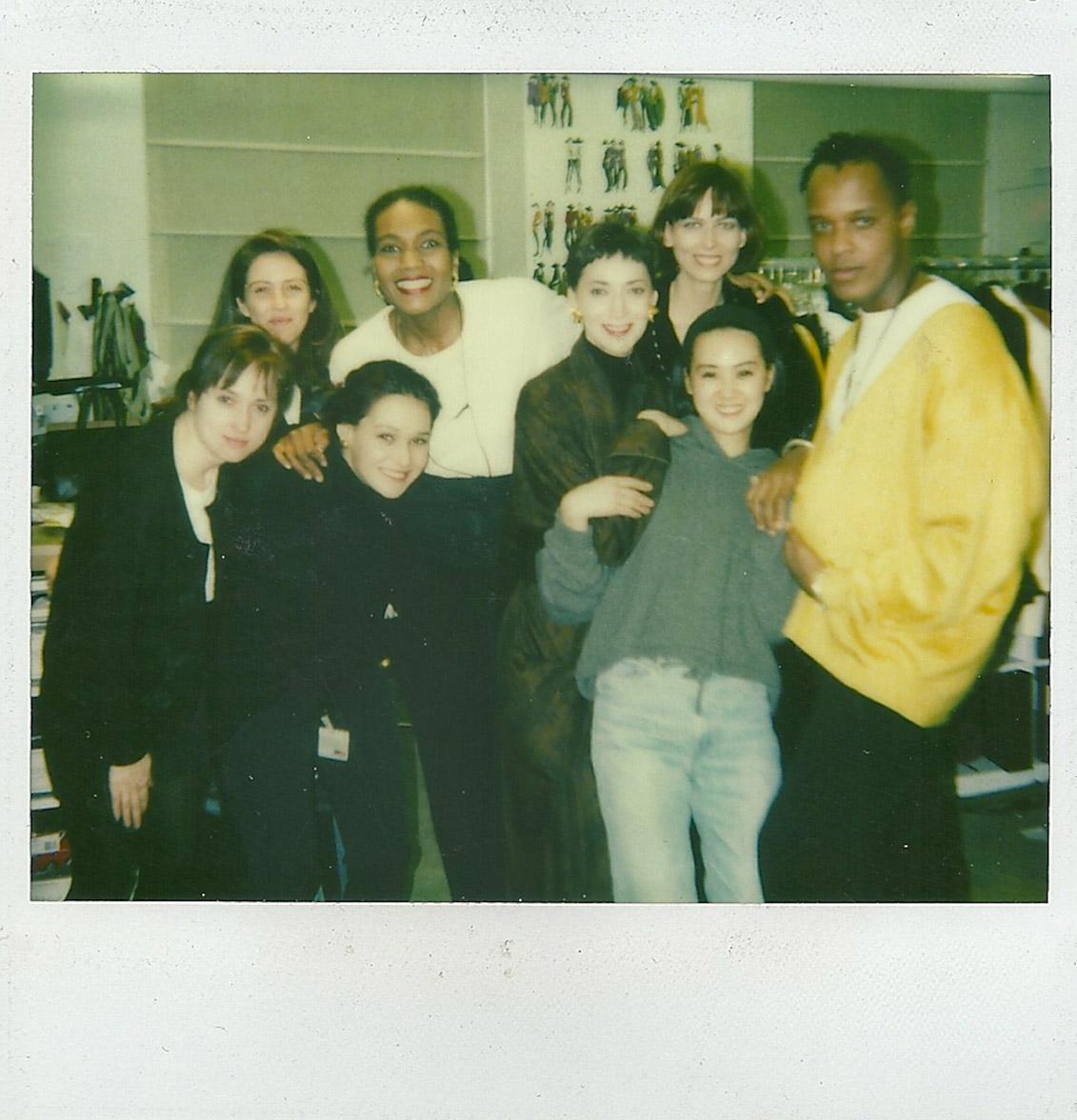 Donna Karan's design team: Xiomara Grosset, Edward Wilkerson and Carmen Artigas. Fit models Doreen and Gina Di Berardo. Textile team, Cristina Azario and Michelle Hrynda.