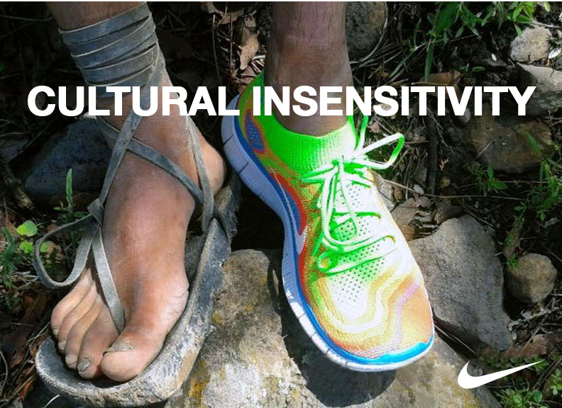 "The  Flyknit campaign  featuring the  Tarahumara or Rarámuri  which means  ""runners on foot""  in their native tongue. The Rarámuri are among the  POOREST ETHNIC GROUPS  in Mexico. They faced  SERIOUS FAMINES  in recent years due to drought. Using their image to  SELL NIKE shoes  seemed terribly insensitive to their needs."