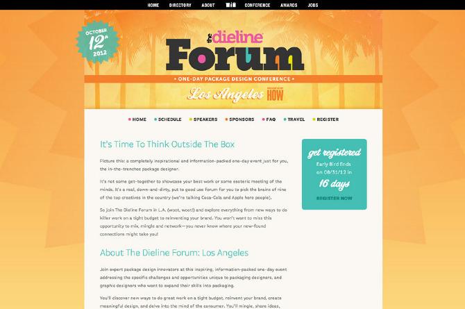 Website design forthedielineforum.com