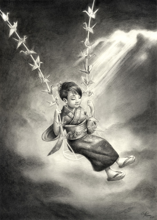 Freedom Swing  13.5'' x 19'' Graphite on paper
