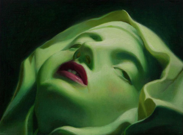 Green Ecstasy 6'' x 8'' Oil on panel Private Collection