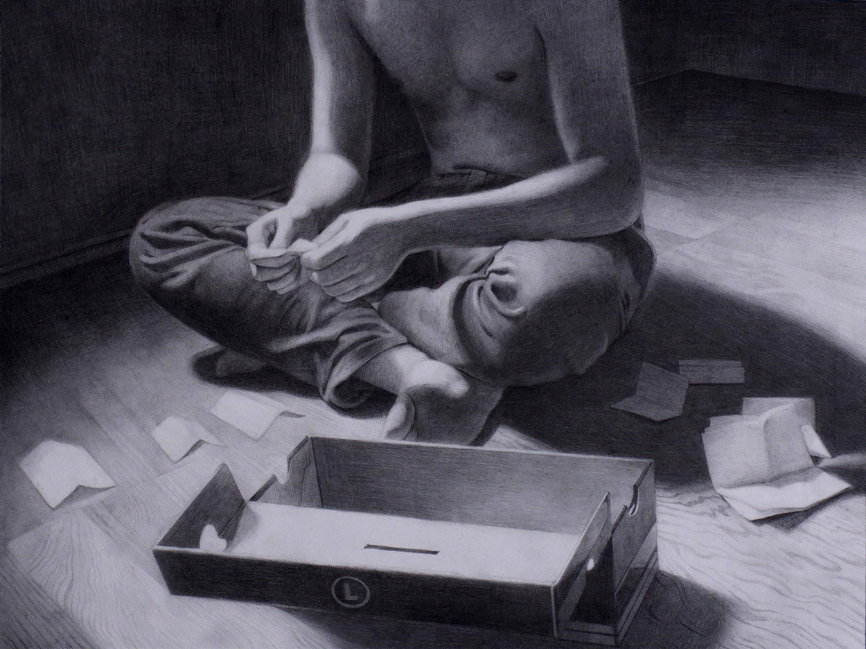 'Notes' 12'' x 16'' Graphite and Charcoal on paper