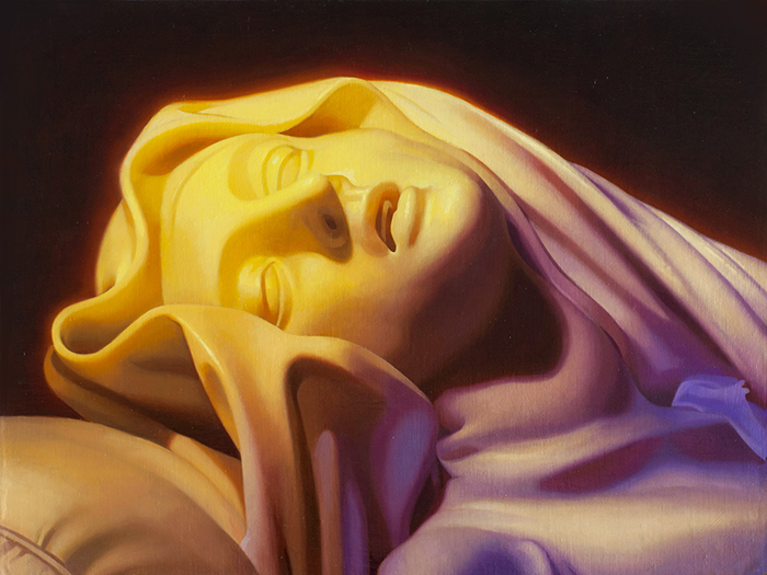 Alectrona (After Bernini) 18'' x 24'' Oil on panel  Inquire for availability