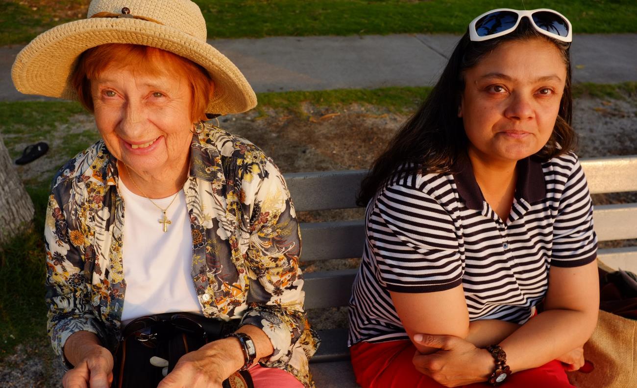 mom and manjira, kailua-kona, hawaii, jan 2013