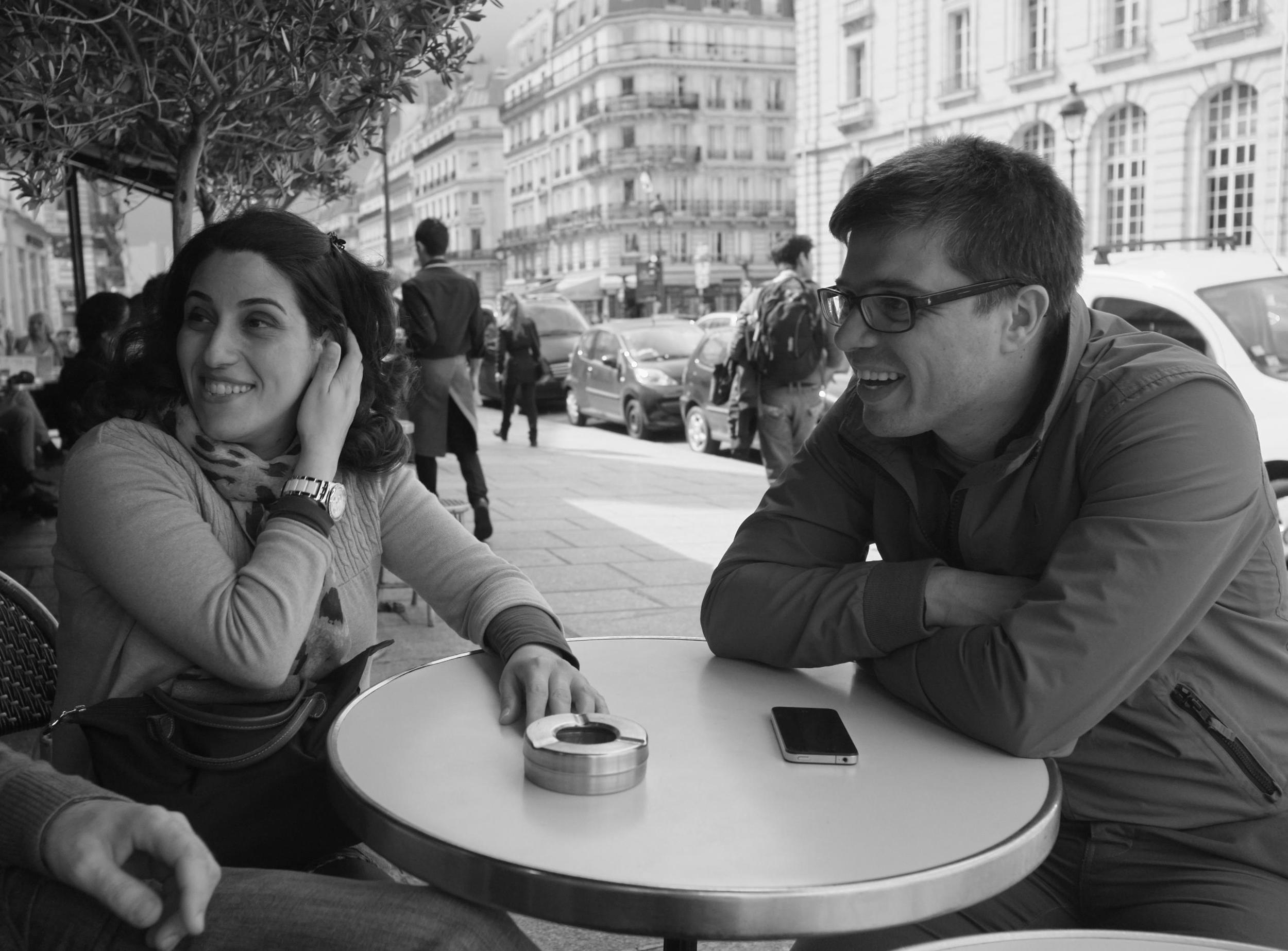 joyce and yiannis (and pascal's hand), near the pantheon, paris, june 2013