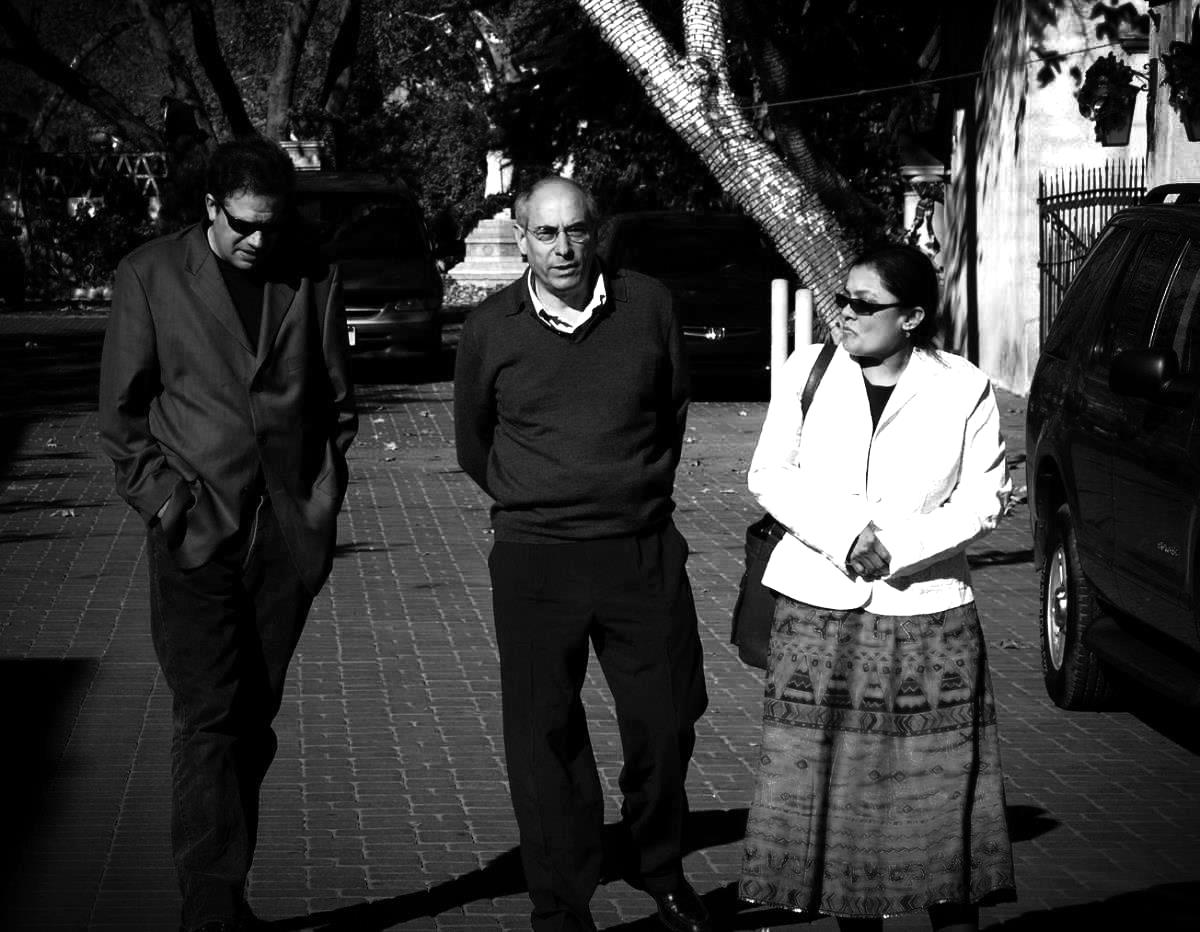 w/ bernard cornet and manjira, sedona az, october 2006