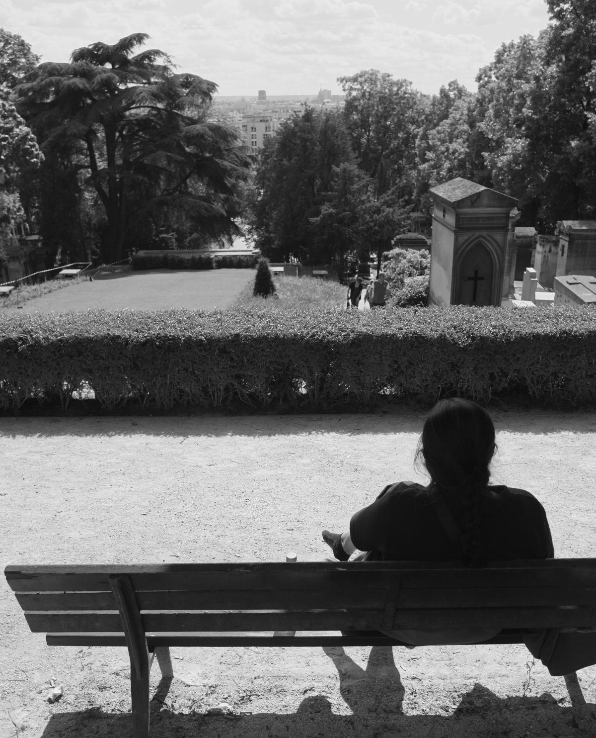 manjira, the view of paris from pere lachaise, paris, july 2013