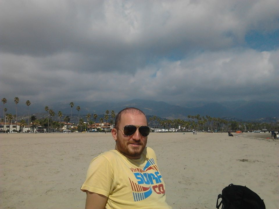 francesco, on the beach in santa barbara, livin' the good life of a graduate student, october, 2013