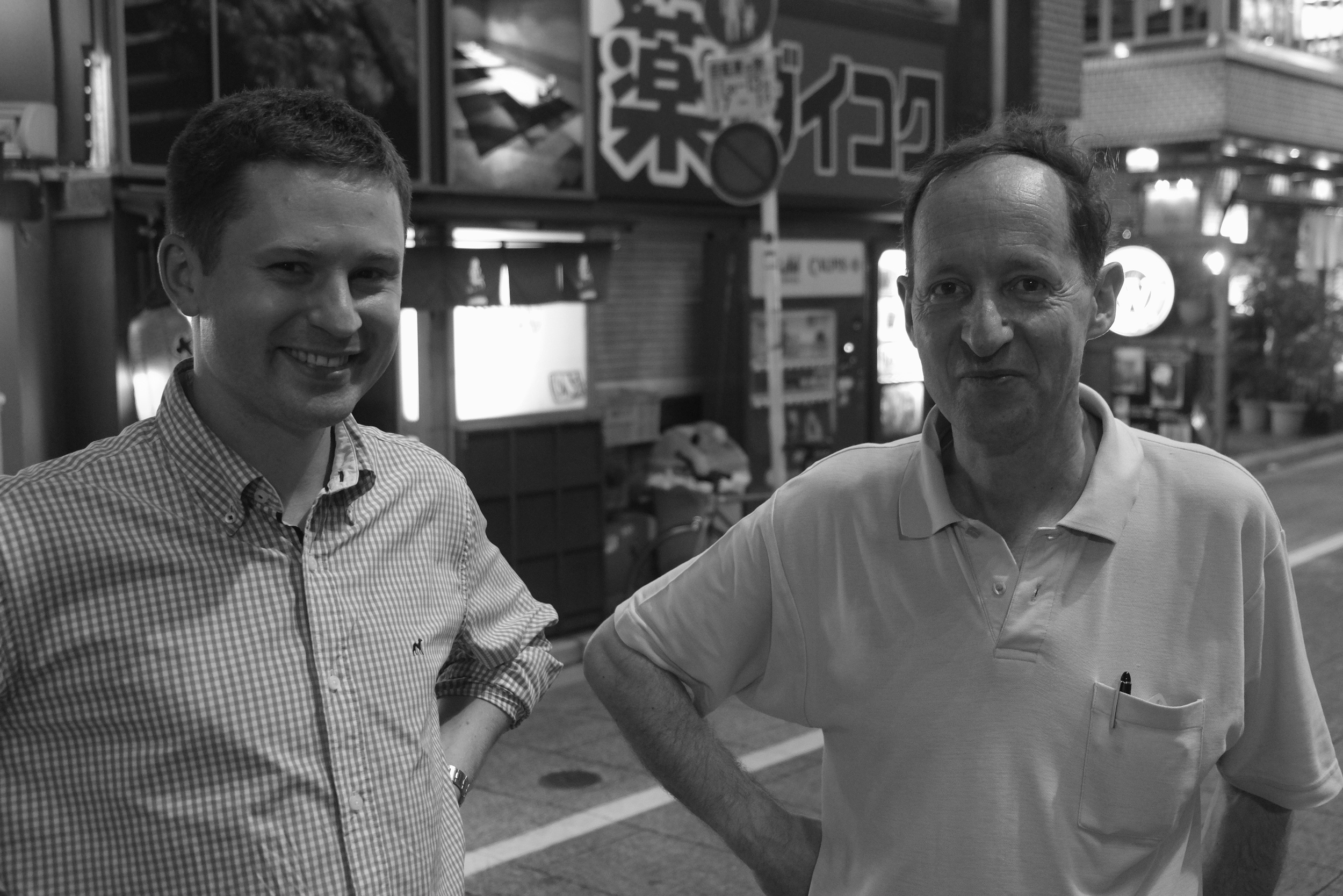 lukasz and rabah,toyko, august, 2014