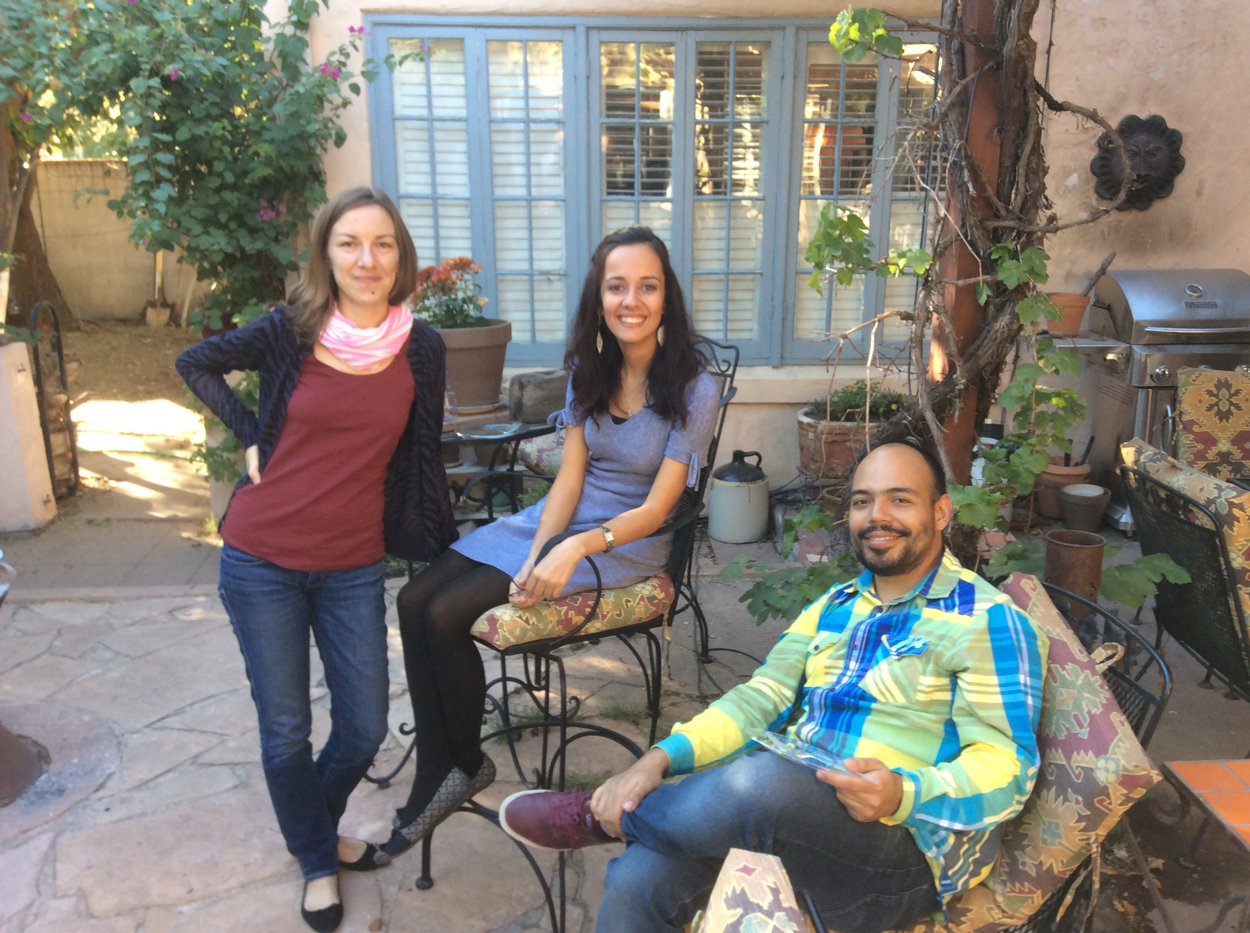 nastya, dilsat, and allan at the house on thanksgiving day, november 2014