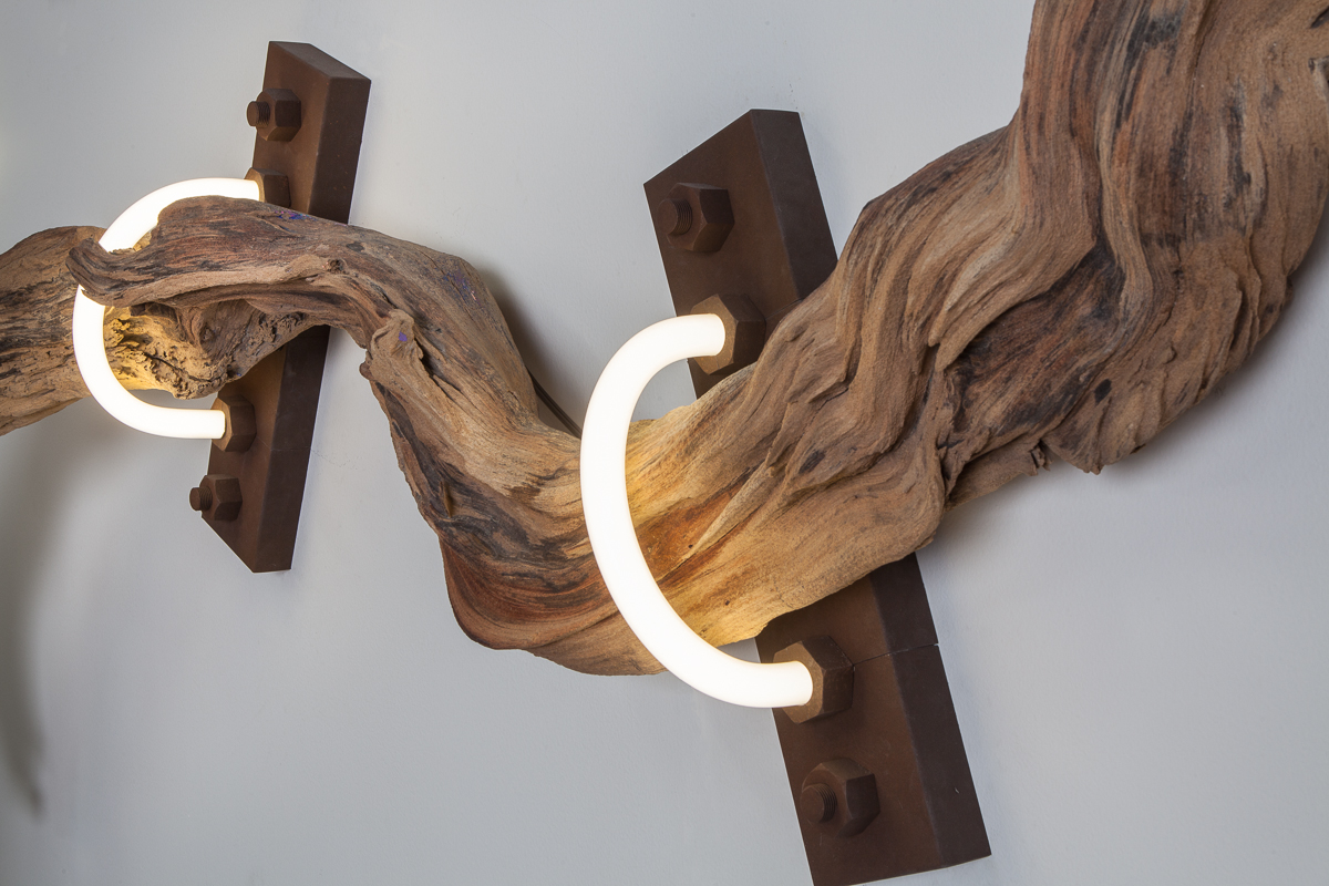 The Root (wood/neon series)