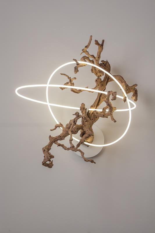 Untitled (wood/neon series 1)