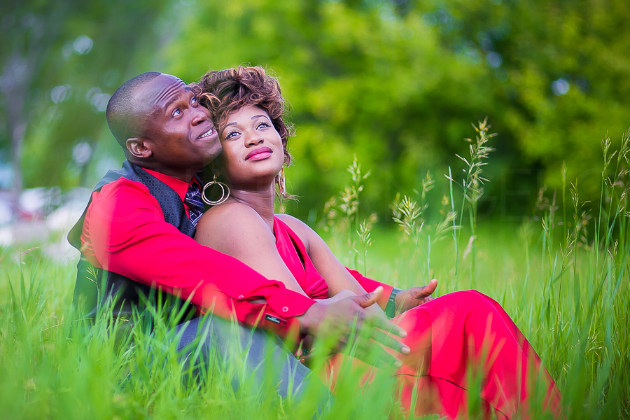 Who's to forget this strikingly lovelycouple Ibrahim and Carmel on a summer photo session?