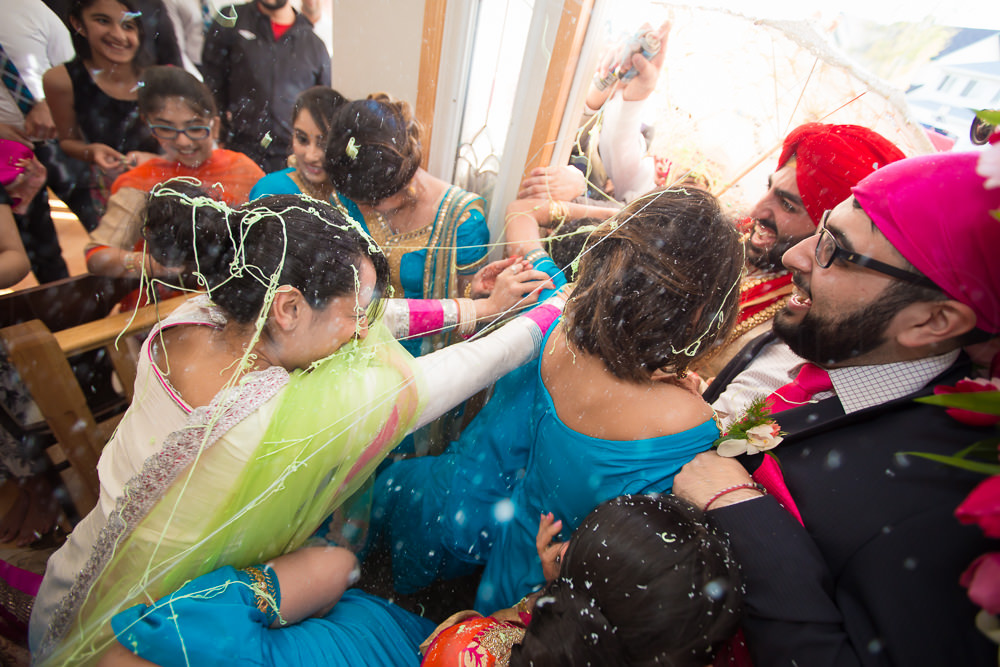 This is when things started becoming sticky and messy. Forcefully making their way and not wanting to pay for anything, the groomsmen steps things up a bit.