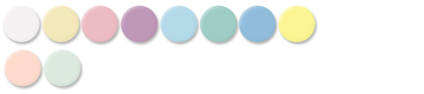 Pastel Pearls - 10 pastels with pearlized surfaces  - Click to download PDF