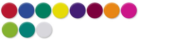 Jewels  -  11 brilliant, transparent colors  - Click to downoad PDF