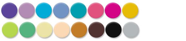 Fashion- 16 fashionable colors  - Click to download PDF