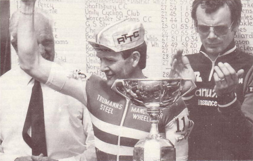 R. T. T. C. National 25 miles Champion - Dave Lloyd 1982.