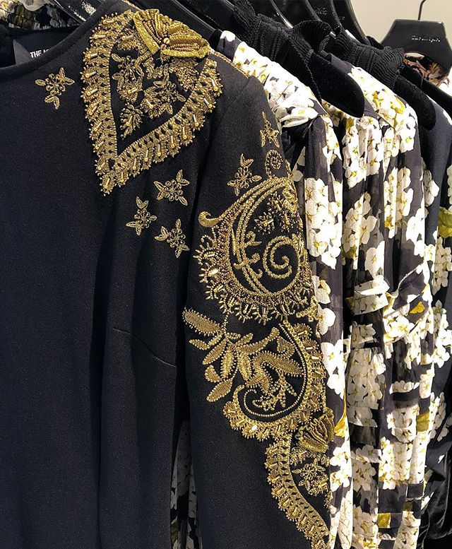 Bullfight for your right to party @thekooples  #dress #embroidery #thekooples #blackandgold #torontoshopping