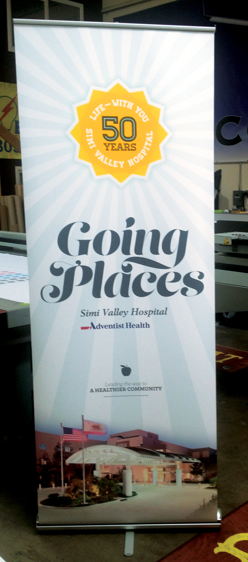 Simi Valley Hospital 50-Year Anniversary Banner
