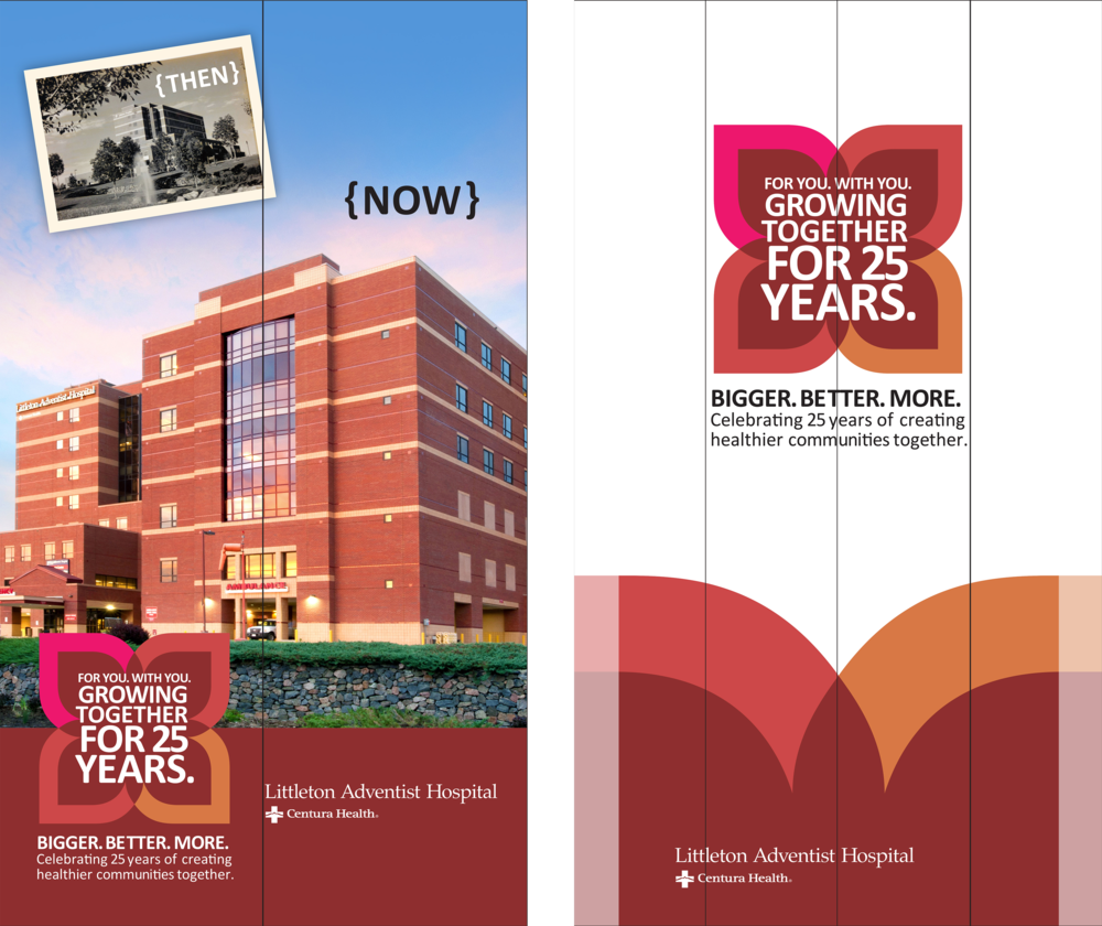 Littleton Adventist Hospitals 25-year Anniversary Elevator Wraps