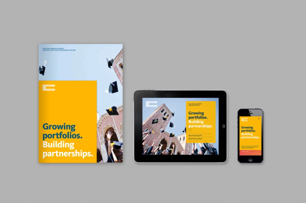 Annual report and digital annual report for  University of California  by  Mucho.