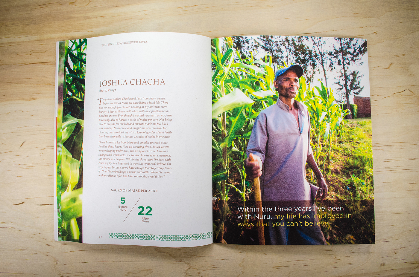 Annual report for  Nuru International  by  Gabriel Schut.